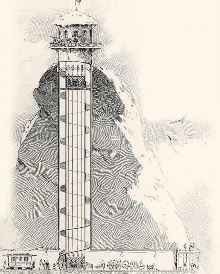 Bau der Jungfraubahn