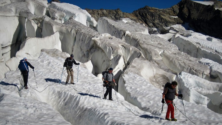 Tanz zwischen Gletscherspalten