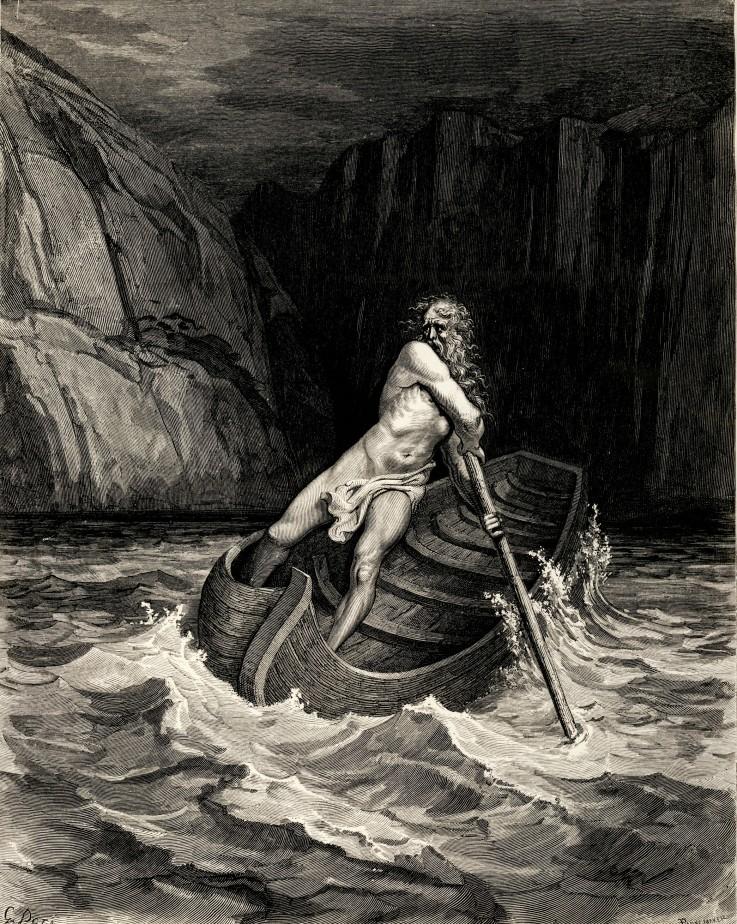 Charon auf dem Acheron