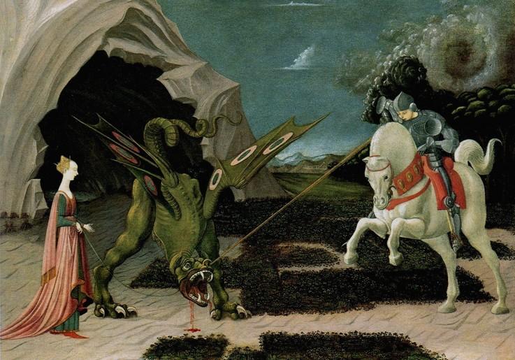 Heilige Georg im Kampf mit dem Drachen
