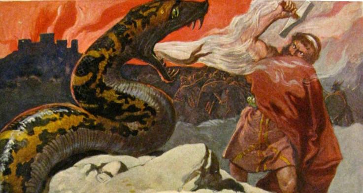 Thor und die Midgardschlange