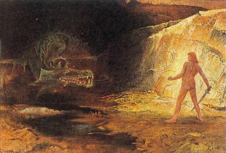 Sigurd und Fafnir